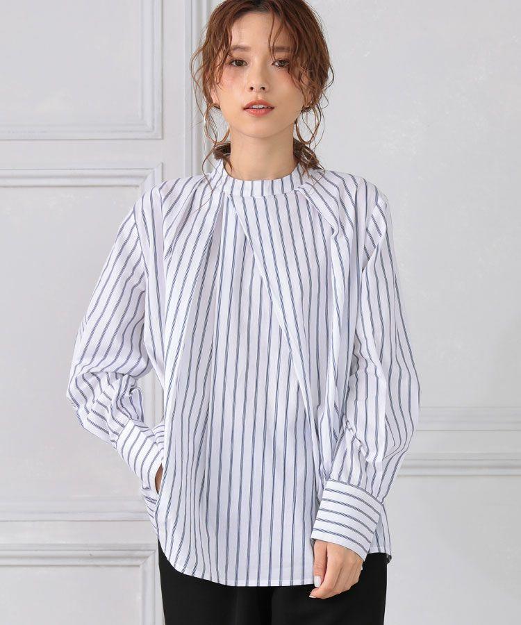 【ADORE】ランダムストライプタックシャツ